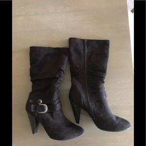 Tall Black Heeled Boots